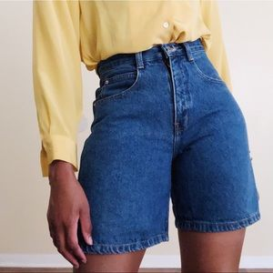 Vintage Fresno High Waist Cotton Jean Shorts